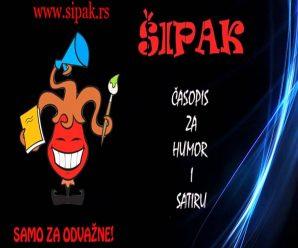 Dnes aktuálne srbský humoristický časopis ŠIPAK