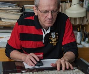 Dnes aktuálne popredný slovenský karikaturista Ľubomír Kotrha